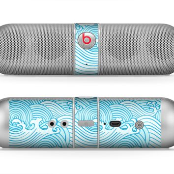 The Seamless Blue Waves Skin for the Beats by Dre Pill Bluetooth Speaker