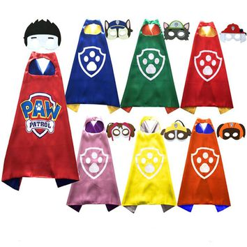 10pcs/lot - Halloween Children Cosplay Cartoon Cloak Paw Cape and Mask Set Costume Kids Birthday Party Favor Cover-ups