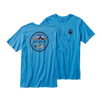 Patagonia Rivet Logo Cotton Tee- Skipper Blue