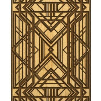 Art Deco Geometric Design Wood iPhone Case for 5 5s Laser Cut Abstract Pattern Cell Phone Case