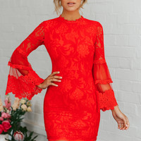 Right On Time Dress Red