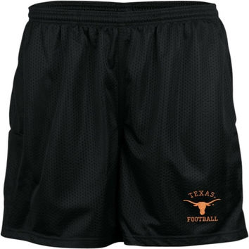 Texas Longhorns Youth Black Football Shorts