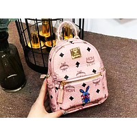 MCM 2018 Counter Your Beautiful Cute Mini Bunny Backpack F-AGG-CZDL Pink