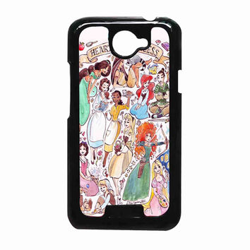 Heart of a Princess Disney a5e9e26f-1f2b-4771-b22c-55658e2344f8 FOR HTC One X CASE *RA*