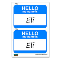 Eli Hello My Name Is - Sheet of 2 Stickers