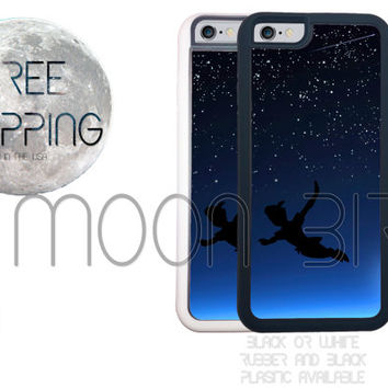 Disney Peter Pan Flying the Night Sky Phone Case For Apple iPhone 4, 4s, 5, 5s, 5c, 6, 6+ Touch 5. Black, White or Clear Phone Case