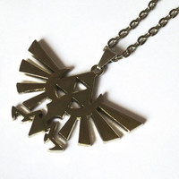 Hylian Crest Necklace - Zelda Necklace for Legend of Zelda cosplay - videogame jewelry for fandom geeks!