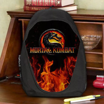 Mortal Kombat Fighting Game Teen Kids Canvas School Backpack Bag Rucksack
