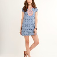 Tile Indigo Print Dress