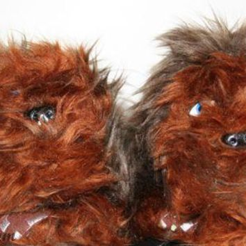 Licensed cool STAR WARS CHEWBACCA CHEWIE WOOKIE Plush Toddler SLIPPERS HOUSE Shoes S-XL NWT