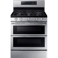 Samsung 30 in. 5.8 cu. ft. Double Oven Gas Range with Self-Cleaning Convection Oven in Stainless-NX58K7850SS - The Home Depot