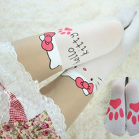 Hello Kitty Thigh High Tights from Crazy Cats