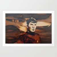 Leonard Nimoy alias Mr. Spock Art Print by Andulino