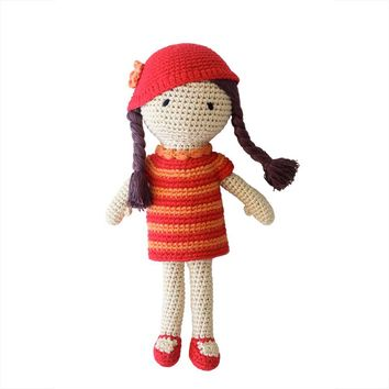 Amelia  Crocheted Girl Doll