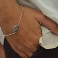 Sterling Silver Monogrammed Bracelet. Great personalized gift. Perfect for bridal party