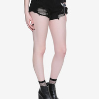 BlackCraft Destroyed Patch Shorts Hot Topic Exclusive