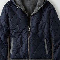 AEO Men's Reversible Quilted Jacket (Charcoal)