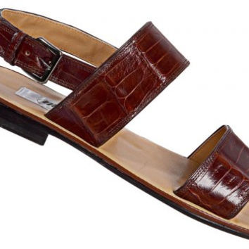 Mauri - '1496' Brown Crocodile Sandal