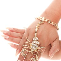GOLD SCORPION BRACELET RING ACCESSORIES