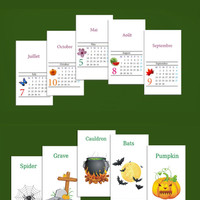 Any 4 sets of cards = 80 in Spanish / French / Russian / German with translation to English, Play fun game + Learn a language