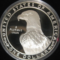 Silver Proof Coin, 1983 S USA Silver Collectible Coin, UNC Mint Silver Proof Coin Commemorating LA Olympics Coin, Liberty Silver Dollar Coin