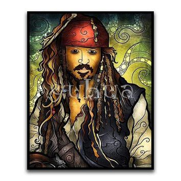 5D Diamond Painting Abstract Jack Sparrow Kit