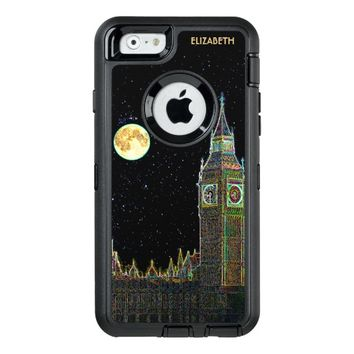London Parliament Skyline At Night With Fool Moon OtterBox iPhone 6/6s Case