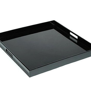 Black Lacquer Serving Tray 22 x 22