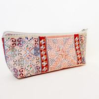 Pencil Case Medium Zipper Pouch Cosmetic Bag Toiletry Bag Boho Style
