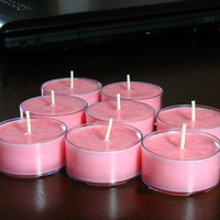 Floral Bouquet Scented Soy Tea Light Candles, 8 Each Tea Lights, Scented Candles, Handmade Candles, Pink Candles