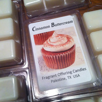 Handmade CINNAMON BUTTERCREAM scented 3 oz. Soy Wax Melt, Wholesale Bulk Discount Pricing available for Wedding & Baby Shower Favors