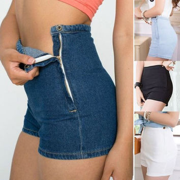 New 2014 fashion Summer Women High Waist Denim shorts Sexy Women's Clothing hot shorts womens