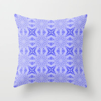 Blue Flower Fields Throw Pillow by 2sweet4words | Society6