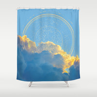 Create Your Own Constellation Shower Curtain by Soaring Anchor Designs