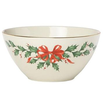 "Holiday 7"" Bowl by Lenox"