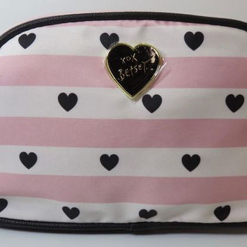 Betsey Johnson Be Min Large Loaf Cosmetic Bag