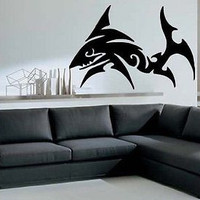Shark Tribal Fish Decor Wall Mural Vinyl Art Sticker M118