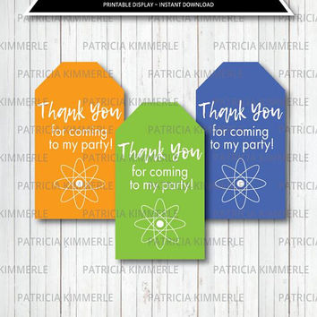 Printable Thank You Tag, Mad Scientist Party, Science Experiment, Slime Lab, Mad Science, Science, Favor Tags, Thank You, Loot Bag Tag