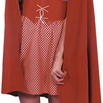 costume accessory: red riding hood cape