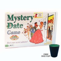 Mystery Date Board Game w/ Free Dice Cup