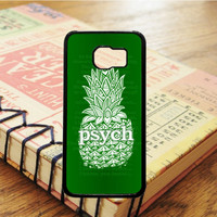 Pineaple Psych Green Samsung Galaxy S6 Case