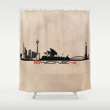 Sydney city skyline Shower Curtain by Jbjart
