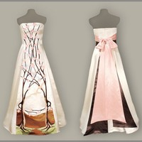 April  Eco Friendly Wedding Dress  Made to Order by threadhead