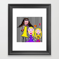 Girls by Elisavet | Friends #society6 Framed Art Print by Azima
