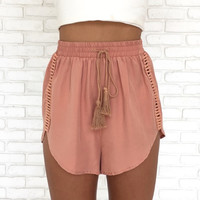 Sun Kissed Sand Embroider Shorts