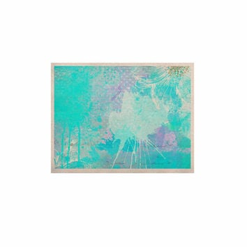 """Li Zamperini """"Vintage Dreams"""" Teal Painting KESS Naturals Canvas (Frame not Included)"""