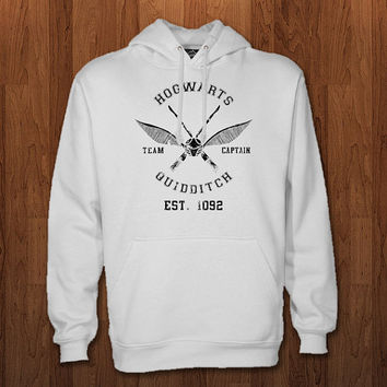 hogwarts quidditch logo Hoodie for size s-3xl, for color black, white, gray, and red