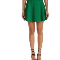 Green Forever Lucky Skater Skirt