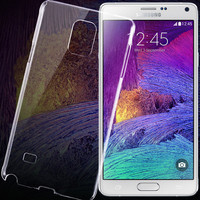 Transparent Clear Hard Back Case For Samsung Galaxy Note 4 IV N910C/N910F/N910S/N910L/N910K Ultra Thin Mobile Phone Cover