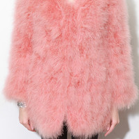 Multicolor Ostrich Coat